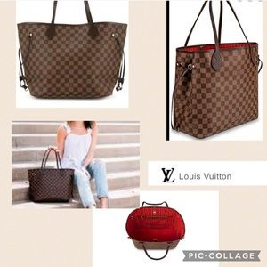 Classic Louis Vuitton Neverfull MM Damier Tote